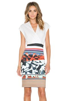 Clover Canyon Ink Strokes Dress in Multi | REVOLVE