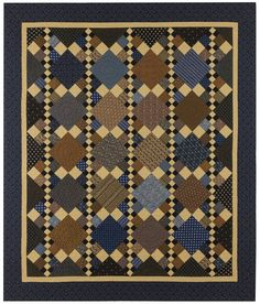 """Quilt Pattern by Red Crinoline Quilts - New Market - Finished quilt size is about 79"""" by 92"""" - Pattern Price: $10.00"""