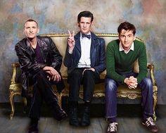 Christopher Eccleston, Matt Smith, David Tennant