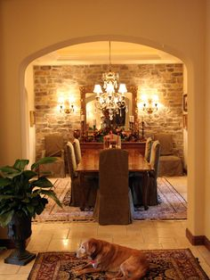 Mediterranean Dining Room Design, Pictures, Remodel, Decor and Ideas - page 9