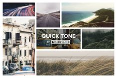 QuickTone is a comprehensive tool kit of subtle Photoshop actions inspired and made to emulate the raw tones of Earth.