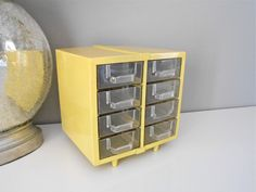 Unique Vintage Yellow Drawers