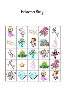 It's a Princess Thing: Free Printable Princess Bingo Game