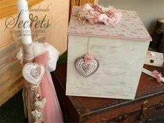 Βαπτιστικό πακέτο για κοριτσάκι σε vintage ύφος που περιλαμβάνει κουτί λαμπάδα μαρτυρικά λαδόπανα λαδοσέτ, μπομπονιέρες γάμου, μπομπονιέρες βάπτισης, Χειροποίητες μπομπονιέρες γάμου, Χειροποίητες μπομπονιέρες βάπτισης