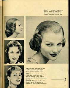 Beauty is a thing of the past: 1950's hairstyles