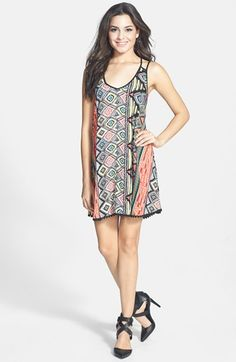En Crème Strappy Swing Dress (Juniors) available at #Nordstrom