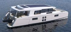 ( 70 ft = 70 feet; 1 ft = 30,48 cm = 21,5 Meter ) Yacht Design, Boat Design, Power Catamaran, Sailing Catamaran, Boat Building Plans, Boat Plans, House Yacht, Narrowboat Interiors, Explorer Yacht