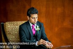 Groom getting ready for indian Wedding in Park Ridge Marriott. Along with Wedding Coordinator Nobility Events, Chand Palace, make up artist Jyoti, DJ Suj and Mandaps by Dhoom. Best Wedding Photographer PhotosMadeEz . Award Winning Photographer Mou Mukherjee .Featured in #MaharaniWedding. South Indian Groom, Gujarati Bride/ Park Ridge, Groom Getting Ready, Indian Groom, Best Wedding Photographers, Cute Relationships, Wedding Coordinator, Palace, Dj, Events