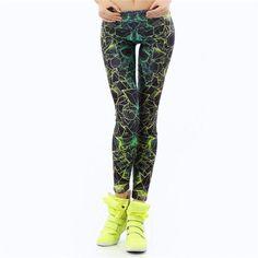 New Fashion Women leggings 3D Printed color legins Ray fluorescence leggins pant legging for Woman