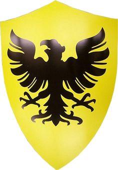 Medieval Crusader Deutschland German Eagle Shield Armor