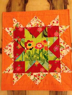 Quilting: upsized star for doll quilt