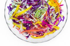 This healthy Spicy Rainbow Slaw complements any summer meal --- it's cooling, crunchy, and crazy colorful!
