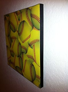 12x12 Softball Wall Hanging. $10.00, Via Etsy.