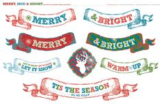 Merry, Mod & Bright Holiday Party + FREE Printables