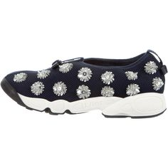 9bfebc701e539 Pre-owned Christian Dior Embellished Fusion Sneakers ( 700) ❤ liked on Polyvore  featuring shoes