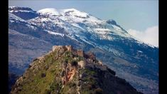 Mystras Castle, and Taygetus mountain. The Byzantine castle of Mystras, and Moun , Monuments, Corinth Canal, Greece Vacation, Fairytale Castle, Beautiful Islands, Where To Go, Places To See, Tourism, Around The Worlds