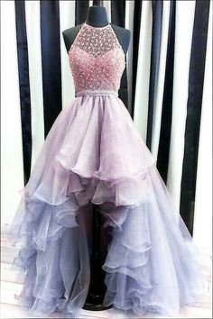 Cute prom dresses - Luxury beading prom dresses, modest high low graduation party gowns, chic formal dresses for teens – Cute prom dresses Pretty Prom Dresses, Hoco Dresses, Modest Dresses, Ball Dresses, Ball Gowns, Evening Dresses, Dress Prom, Pretty Dresses For Teens, Teen Dresses