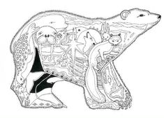 Alaska Coloring Page | Alaska Critters Coloring Book by Sue Coccia - Click Image to Close: