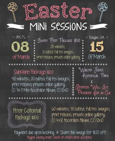 Easter Mini Sessions promo