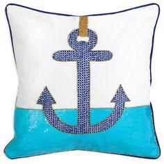 Jonathan Adler Throw Pillow Cote d'Azur Anchor #laylagrayce #jonathanadler