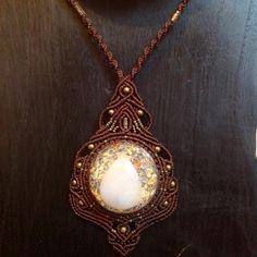 Orgonit macrame necklace - lises_tribal_macrame