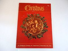 Vintage Augsburg annual Christmas Book  1977 by metrocottage