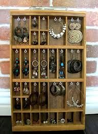 So much jewelry in such a pretty display!
