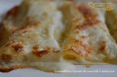 cannelloni ripieni di carciofi e salsiccia1