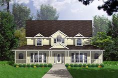 Elevation of Country   Ranch   Southern   House Plan 77751 with Jack and Jill suites; needs garage