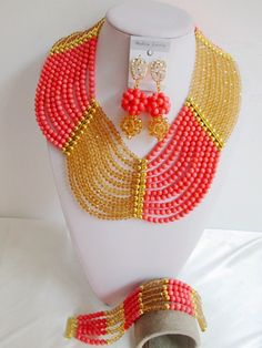 Find More Jewelry Sets Information about Fashion nigerian wedding african coral beads jewelry set costume jewelry set Free shipping NAF342,High Quality jewelry pa,China jewelry workbench Suppliers, Cheap jewelry glasses from Baomei Co., LTD. (african beads/jewelry findings) on Aliexpress.com