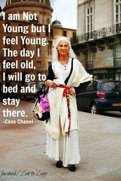 U r the age u feel..feel young