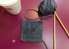 I think this could make a cool blanket or rugs even. Make some mitered squares - LoveKnitting blog