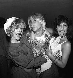 Sable partying with Iggy and Lori Maddox, circa 1974.