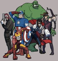 TEAM FORTRESS 2 Characters as THE AVENGERS