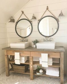 I have some serious bathroom envy...this farmhouse style bathroom from @twelve.on.main is so dreamy. And you guys, they made this vanity. Can you believe it?!? There's also shiplap, a big soaking tub and the pretty tiled shower. I can't even pick my favorite part. I keep telling my husband to make me this bathroom! #oneroomchallenge #roomstosee