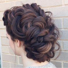 Textured, Dutch braided updo we ❤ this! moncheribridals.com #weddingupdo #weddinbraids #bridalbraids #braidedupdo