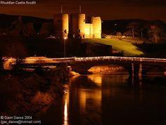 Rhuddlan Castle at night
