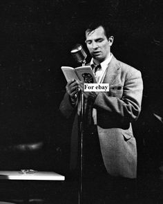Jack Kerouac Reading His Short Story Neal and the Three Stooges Photo