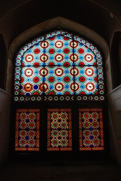 Unique art of glass design on a window in city of Yazd :)