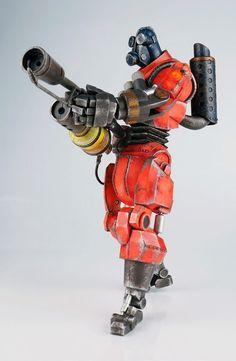 Team Fortress 2 figurine Red Robot Pyro threeA Toys