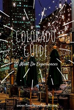 Heading to Colorado? Check out these amazing 20 experiences to help you plan your stay! Unique National Parks, beautiful nature and mountains, charming downtown Denver...#travel #colorado