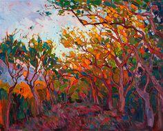 Modern impressionism landscape oil painting by Los Angeles artist Erin Hanson