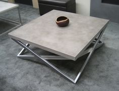 Concrete & Metal Coffee Table …. Stunning