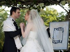 Chelsea Clinton and Marc Mezvinsky married 2010. Formal Wedding, Luxury Wedding, Wedding Ceremony, Private Wedding, Wedding Prep, Wedding Receptions, Celebrity Wedding Hair, Celebrity Weddings, Wedding Photo Gallery