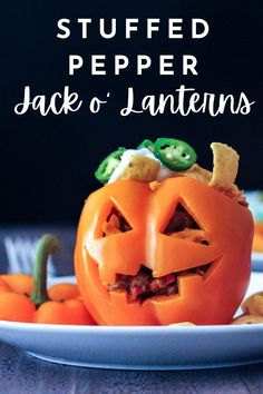 celebrate the season with one of these vegan gluten free recipes for Halloween Stuffed Pepper Jack O Lanterns. several recipes with something for everyone! Vegan Breakfast Recipes, Delicious Vegan Recipes, Meatless Recipes, Pepper Jack Recipe, Dairy Free Recipes, Vegan Gluten Free, Halloween Stuffed Peppers, Vegan Party Food, Vegan Food