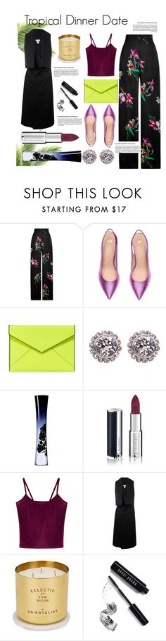 """Tropical Dinner Date"" by blackadonia ❤ liked on Polyvore featuring Etro, Rebecca Minkoff, Ted Baker, Giorgio Armani, Givenchy, WithChic, Lucio Vanotti, Tom Dixon, Bobbi Brown Cosmetics and Summer"