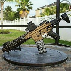 Whether you only own one for home defense or you're a collector, you're going to need a place to store your firearms. Tactical Rifles, Firearms, Shotguns, Airsoft, Ar15 Pistol, Ar 15 Builds, Ar Build, Assault Rifle, Cool Guns