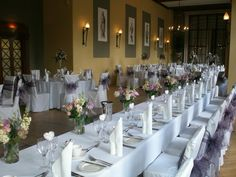 Repton Hall can seat 180 for a wedding breakfast.