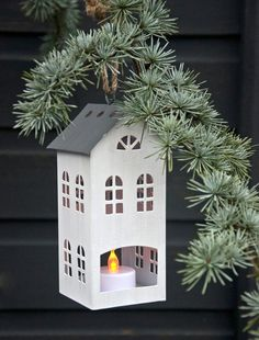 Amsterdam Tall House T-light Holder | DotComGiftShop