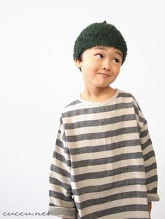 cokitica moke knit cap moss green M cokitica linen border shirt futo border 120